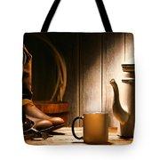 Cowboy's Coffee Break Tote Bag