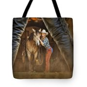 Cowgirl And Cowboy Tote Bag