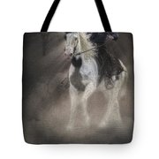 Cowgirl And Knight Tote Bag