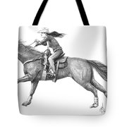 Cowgirl Full Out Tote Bag