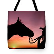 Cowgirl Sunset Tote Bag