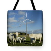 Cows And Windturbines Tote Bag