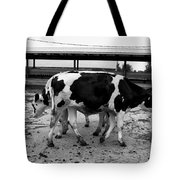 Cows Coming And Going Tote Bag