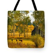 Cows Grazing 3 Tote Bag