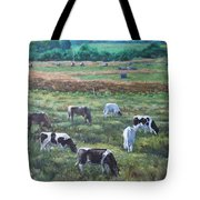 Cows In A Field In The Devon Countryside Tote Bag