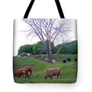 Cows In Rolling Hills Tote Bag