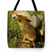 Coyote And Pup Tote Bag