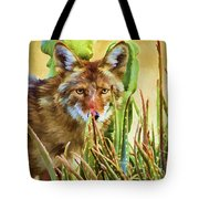 Coyote In The Aloe Tote Bag