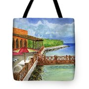 Cozumel Mexico Little Pier Tote Bag