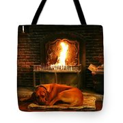 Cozy By The Fire Tote Bag