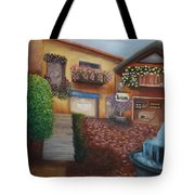 Cozy Courtyard Tote Bag
