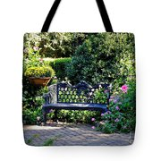 Cozy Southern Garden Bench Tote Bag by Carol Groenen