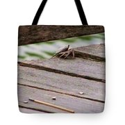Crab On The Pier  Tote Bag