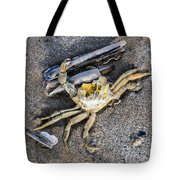 Crab With A Feather Tote Bag