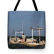 Crabbing Smith Island Md Tote Bag