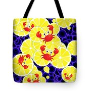 Crabs On Lemon Tote Bag