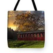 Crack Of Dawn Tote Bag by Debra and Dave Vanderlaan