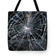 Cracked Glass Of Car Windshield Tote Bag