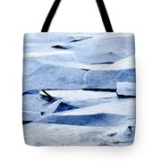 Cracked Icescape Tote Bag
