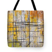 Cracked Wood Background Tote Bag by Carlos Caetano