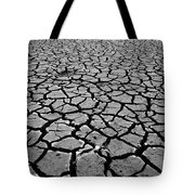 Cracks For Miles Black And White Tote Bag