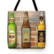 Craft Beer Collection On Brick Tote Bag