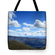 Craggy Gardens Draped In Clouds Tote Bag