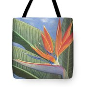 Crane Flower Paradise Tote Bag