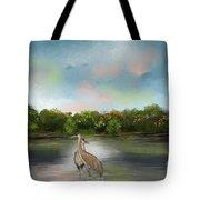 Crane Habitat Tote Bag