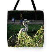 Crane In Evening Light Tote Bag