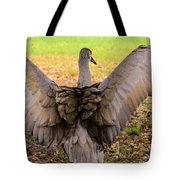 Crane Spreading Wings Tote Bag