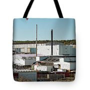 Cranes At Metal Factory, Bath Tote Bag