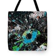 Crash Of The Eye Galaxy Tote Bag