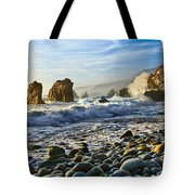 Crash - Waves From Soberanes Point In Garrapata State Park In California. Tote Bag