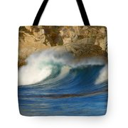 Crashing On The Cliff Tote Bag