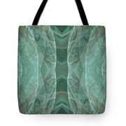 Crashing Waves Of Green 2 - Panorama - Abstract - Fractal Art Tote Bag