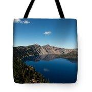 Crater Lake And Boat Tote Bag