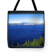 Crater Lake Through Our Window Tote Bag