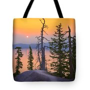 Crater Lake Trees Tote Bag by Inge Johnsson