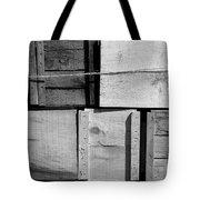 Crates At The Orchard 2 Bw Tote Bag