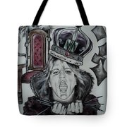 Crazy Carla Queen Of Charcoal Land Tote Bag