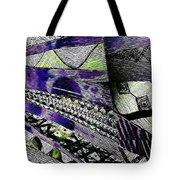 Crazy Cones Purple Greenl2 Tote Bag