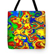 Crazy Day Abstract In Primary Colors  Tote Bag