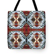 Crazy Fingers Piano Tiled Tote Bag