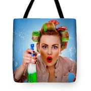 Crazy Girl Cleaning Tote Bag