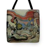 Crazy Moon Tote Bag