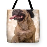 Crazy Top Dog Tote Bag