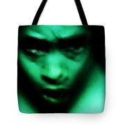 Crazy With Green Tote Bag
