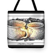 Cream And Sugar - Pottery Tote Bag
