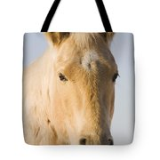 Cream Coloured Horse Head Looking Tote Bag